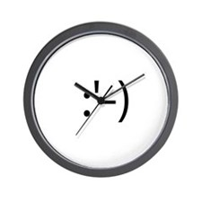 Happy Crying Smilie Wall Clock