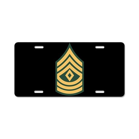First Sergeant License Plate