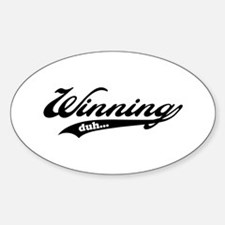Winning! Sticker (Oval)