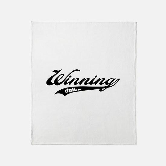 Winning! Throw Blanket