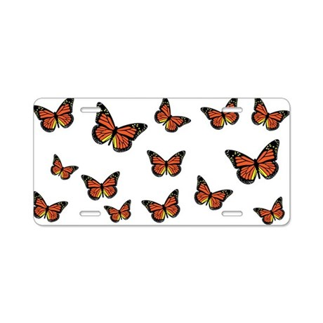 Monarch Butterfly 1 Aluminum License Plate