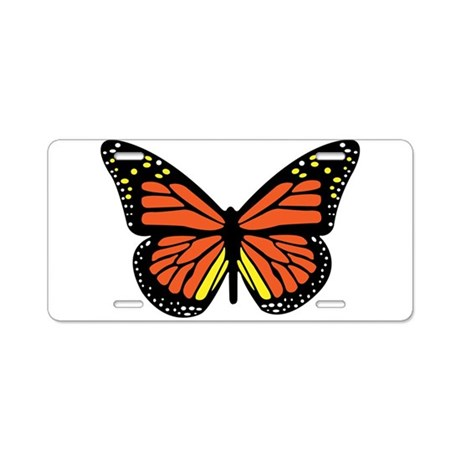 Monarch Butterfly 2 Aluminum License Plate