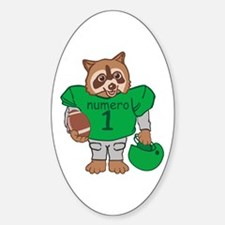 Raccoon Football Player Decal