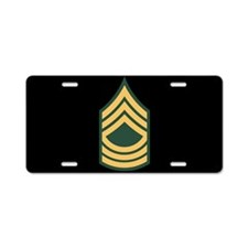 Master Sergeant License Plate