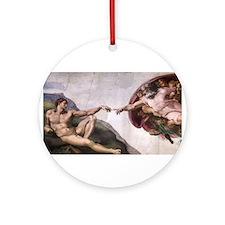 Creation of Adam Ornament (Round)