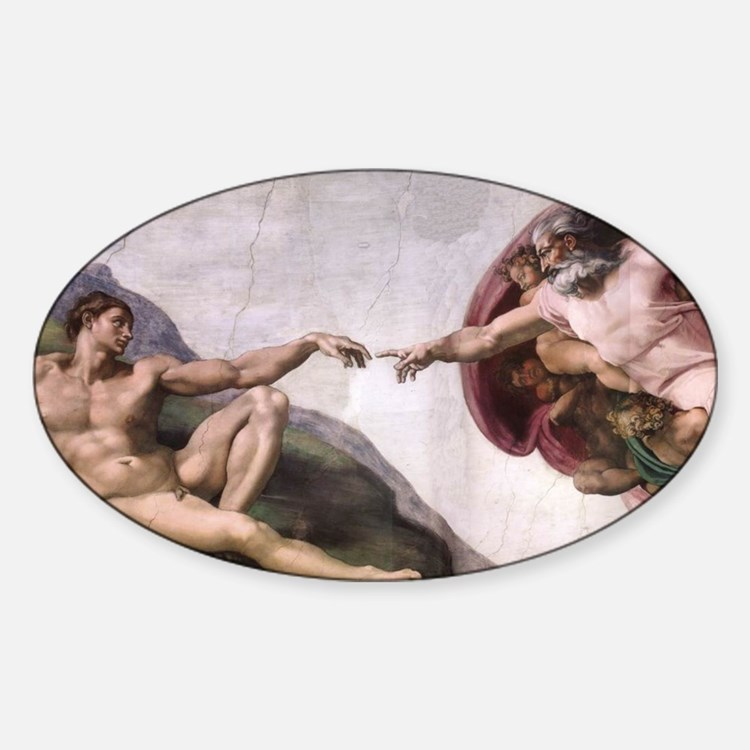 Creation of Adam Sticker (Oval)