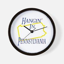 Hangin' in PA Wall Clock