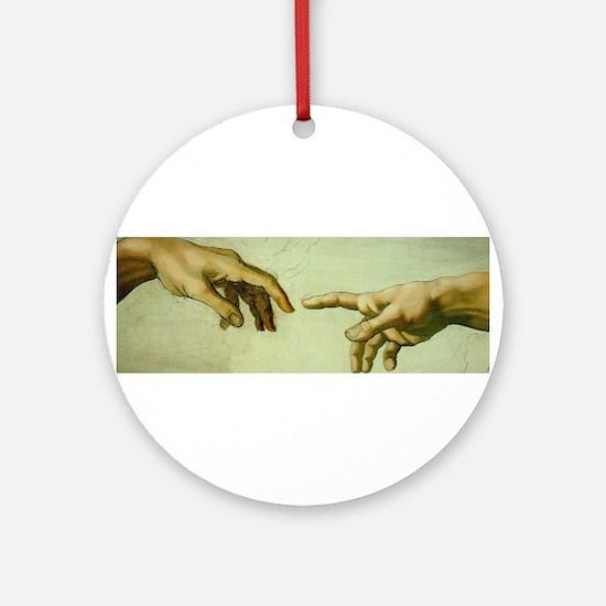 Creation of Adam (detail - Ha Ornament (Round)