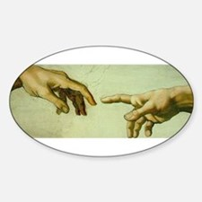 Creation of Adam (detail - Ha Sticker (Oval)