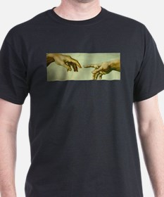 Creation of Adam (detail - Ha T-Shirt