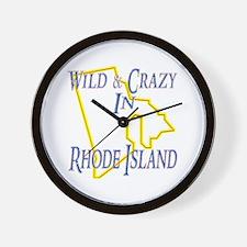 Wild & Crazy in RI Wall Clock