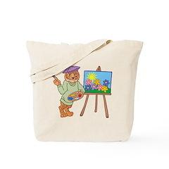 Tiger Artist Tote Bag