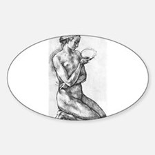 Nude Woman on her Knees Decal