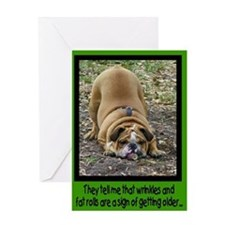 'Wrinkly Bulldog' Birthday Card