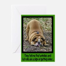 'Wrinkly Bulldog' Birthday Card