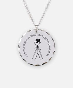 Slow Going Crutches 1 Necklace