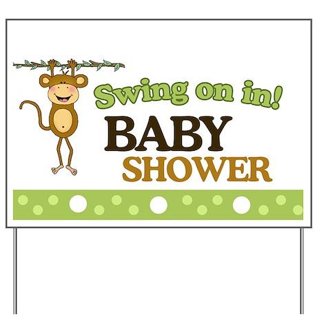 Swing on in Monkey Baby Shower Yard Sign