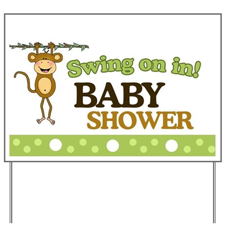 swing on in monkey baby shower yard sign by artbyjessie