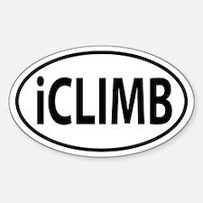 iClimb oval sticker Sticker (Oval)