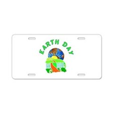 Earth Day Home Aluminum License Plate