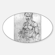Portrait of Vittoria Colonna Sticker (Oval)