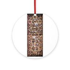 Sistine Chapel Ceiling Ornament (Round)