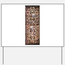 Sistine Chapel Ceiling Yard Sign