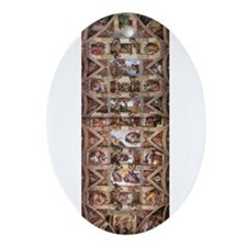 Sistine Chapel Ceiling Ornament (Oval)