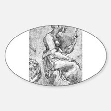 Study of a Seated Woman Decal