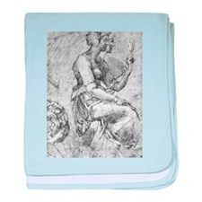 Study of a Seated Woman baby blanket