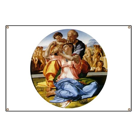 The Holy Family with Infant S Banner