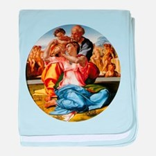 The Holy Family with Infant S baby blanket