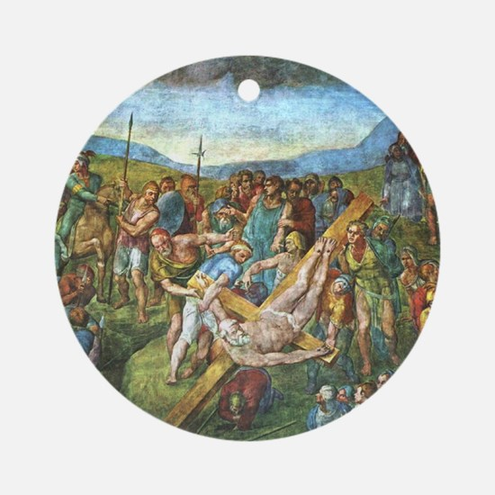 The Martyrdom of St Peter Ornament (Round)