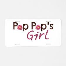 Pop Pop's Girl Aluminum License Plate