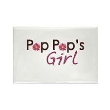 Pop Pop's Girl Rectangle Magnet