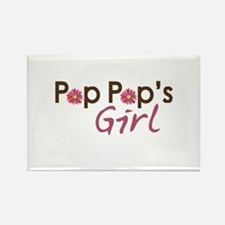Pop Pop's Girl Rectangle Magnet