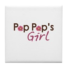 Pop Pop's Girl Tile Coaster