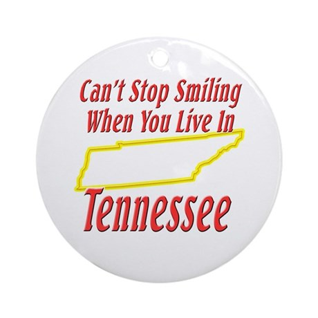 Can't Stop Smiling in TN Ornament (Round)