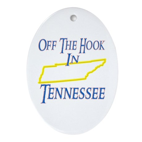 Off the Hook in TN Ornament (Oval)