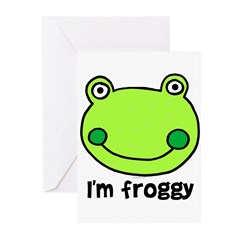 I'm froggy Greeting Cards (Pk of 10)