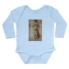 Drawing of Pallas Long Sleeve Infant Bodysuit