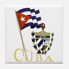 Pride of Cuba Tile Coaster