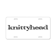 Knittyhead Aluminum License Plate