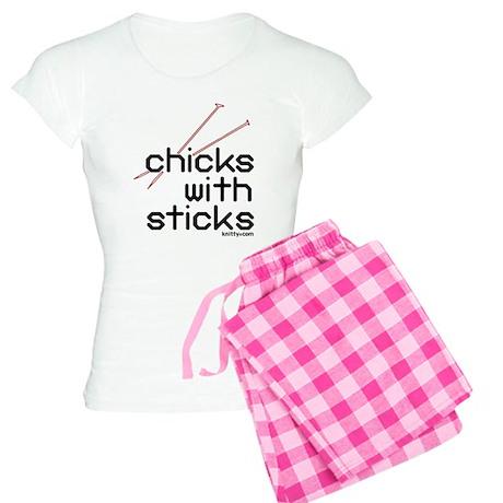 Chicks with sticks Women's Light Pajamas