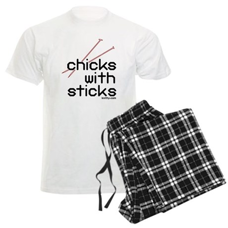 Chicks with sticks Men's Light Pajamas