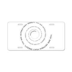 Knittyspin is making you very Aluminum License Pla