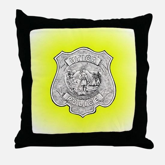Utica Police Throw Pillow