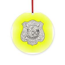 Utica Police Ornament (Round)