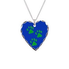 Three Paw Blue Necklace