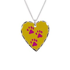 Three Paw Yellow Necklace
